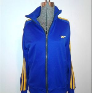ASICS Tiger blue yellow Striped track jacket S